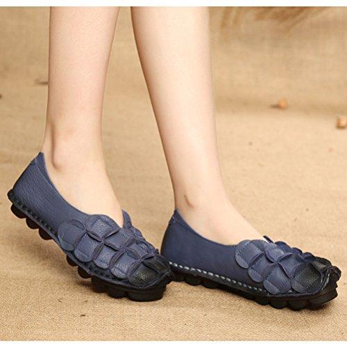 Vogstyle Mujeres Resorte / Verano Nuevo Casual Slip-ons Low-top Zapatos cómodos LH006 Estilo 2-Azul