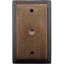 Classic Accents Deco Aged Antique Brass One Gang Cable TV/Coaxial Wall Plate