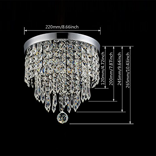 Hile Lighting KU300074 Modern Chandelier Crystal Ball Fixture Pendant Ceiling Lamp H9.84'' X W8.66'', 1 Light by Hile Lighting (Image #5)