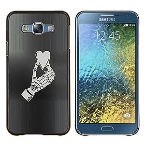 """For Samsung Galaxy E7 E700 Case , Corazón Mano esquelética Vida Amor Aplastado"""" - Diseño Patrón Teléfono Caso Cubierta Case Bumper Duro Protección Case Cover Funda"""