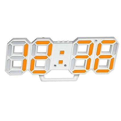 Luminoso Despertador Digital Living Comedor Escritorio cabecera pequeño Reloj Despertador Digital Reloj de Pared, 1