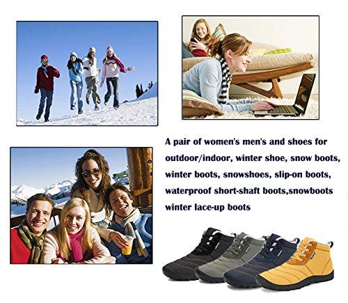 Verde Scarpe Invernali Stivaletti Sportive Scarpe Lace Up Donna IceUnicorn Stivali Neve Caloroso da Uomo Allineato Boots Inverno Pelliccia IqxTBwzx7