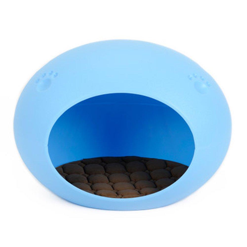 WuKong Pet Egg Shaped Dog Cat House (Blue)
