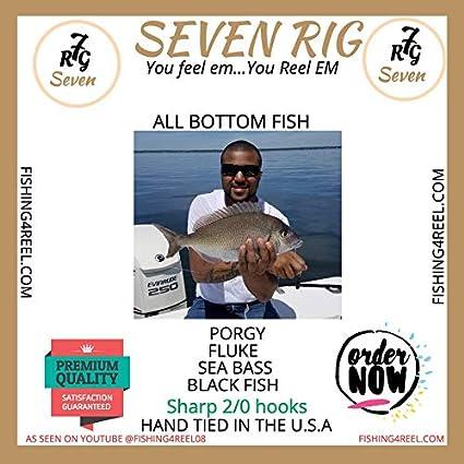 4 FLUOROCARBON Leader Hi Lo rigs Porgy fluke seabass tautog flounder Hand Tied