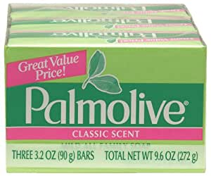 Palmolive Bath Bar Soap, 3.2 oz.. Bars, 3-Count