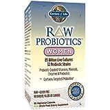 Garden of Life - RAW Probiotics Women - Acidophilus and Bifidobacteria Probiotic-Created Vitamins, Minerals, Enzymes, and Prebiotics - Gluten Free - 90 Vegetarian Capsules