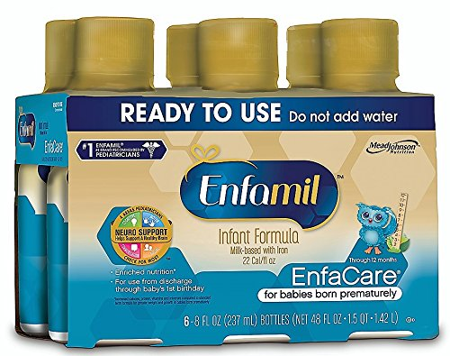 Enfamil EnfaCare Infant Formula - Clinically Proven growth benefits for premature babies - Ready to Use Liquid, 8 fl oz (6 count) by Enfamil