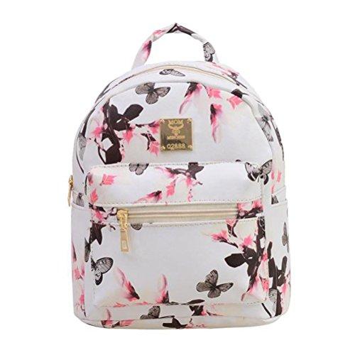Donalworld - Bolso mochila  para mujer rosa rosa small blanco