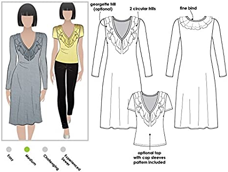 Sizes 04-16 - Click for Other Sizes Available Serena Knit Dress Style Arc Sewing Pattern