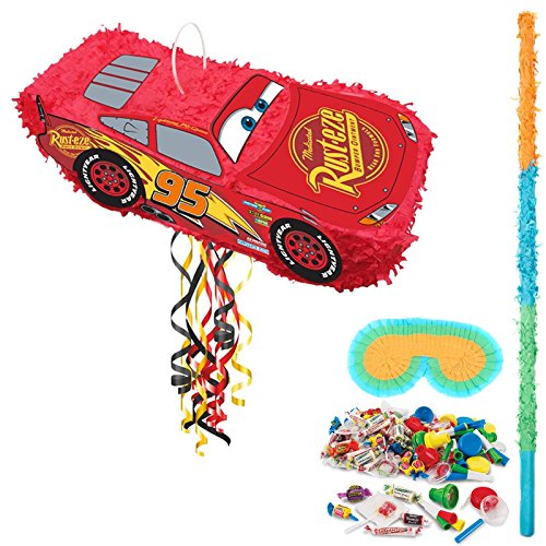 BirthdayExpress Disney Cars Party Supplies Lightning McQueen 3D Pinata (Lightning Mcqueen Pinata)