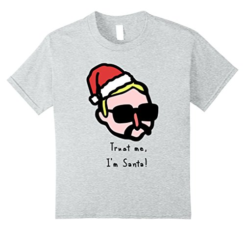 Internet Meme Costume Ideas (Kids Trust me, I'm Santa - Funny Christmas T-shirt 8 Heather Grey)