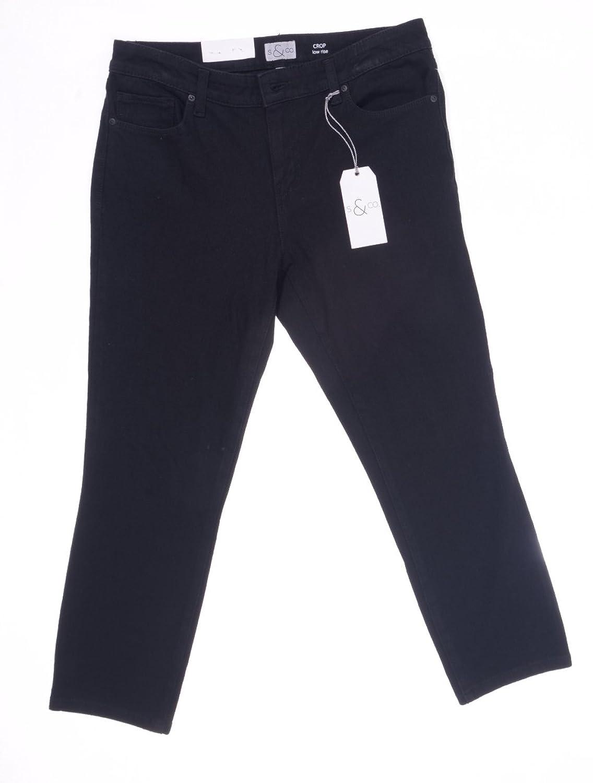 S & Co. Womens Low Rise Stretch Capri Pants