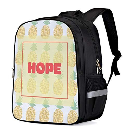 - Small School Backpack for Kids/Kindergarten Monogram, Hope 3D Printed Stylish Laptop Book Bag Lightweight Lunch Bag Daypack for Boys and Girls Arts Language