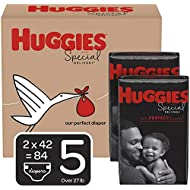 Huggies Special Delivery Hypoallergenic Baby Diapers, Size 5 (27+ lbs.), 84 Count, Economy Plus Pack