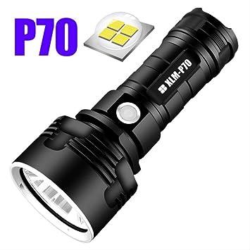 Linterna LED XHP50 Antorcha USB Lámpara recargable a prueba de agua
