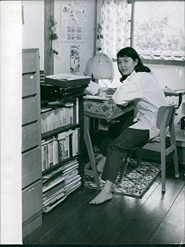 Vintage photo of Sweet japans lady have some ()