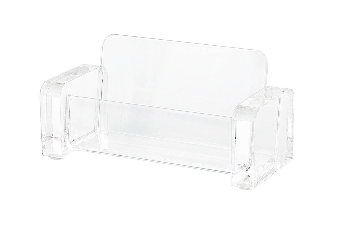 Wedo 0604416 Portabiglietti da Visita in Acrilico Cristallic Trasparente