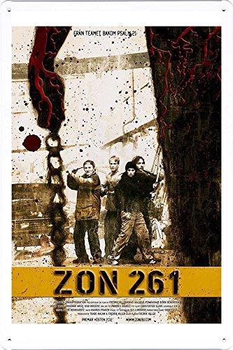 "Tin Poster Movie Film Sign 8""x12"" Zon 261 Produced by Petpet"