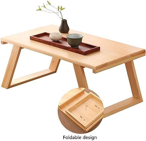 Qazxsw Mesa de café, Ventana pequeña Mesa de Centro Mesa de jardín Plegable Mesa Cuadrada Almacenamiento Conveniente,Marrón,70 * 40 * 30cm: Amazon.es: Hogar
