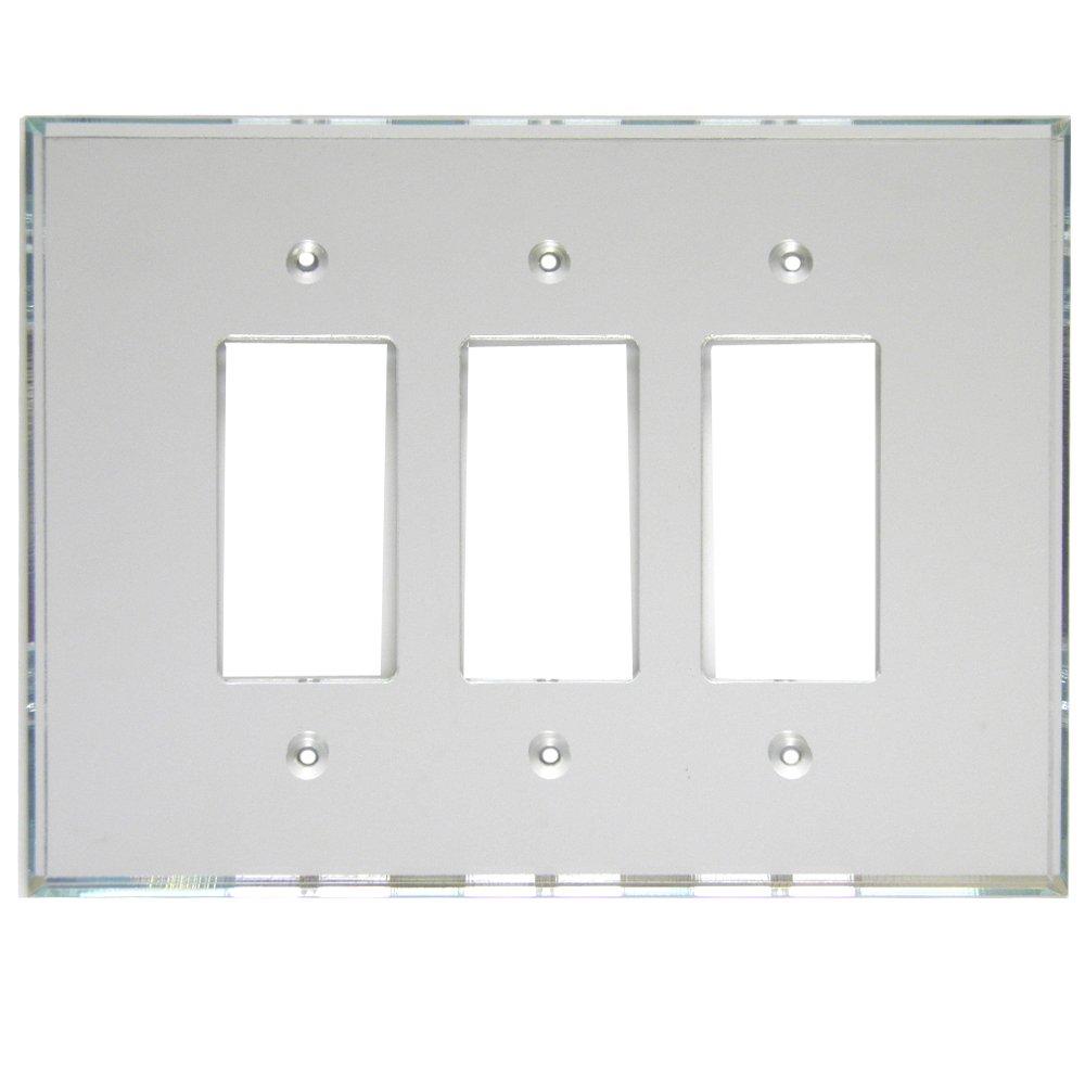 GlassAlike Triple Decora Acrylic Mirror Switch Plate by Mirart GlassAlike