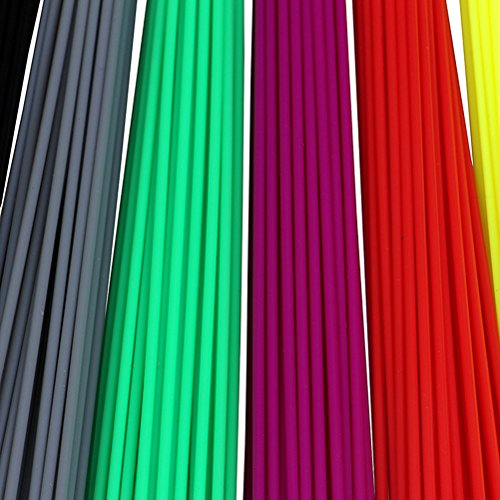 Tinksky 320pcs 20cm Filament 1.75mm PLA Plastic Bar Refill for 3D Printer Pen (8 Colors) by TINKSKY (Image #1)