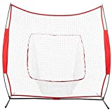 J-Cooper Baseball Training Net, Portable Baseball and Softball Hitting Batting Training Net for Throwing, Pitching, and Fielding (Shipped from USA)