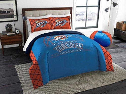 Oklahoma 3 Piece Bath - Oklahoma City Thunder - 3 Piece FULL / QUEEN SIZE Printed Comforter & Shams - Entire Set Includes: 1 Full / Queen Comforter (86