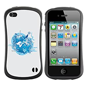 Be-Star Impreso Colorido Diseño Antichoque Caso Del iFace Primera Clase Tpu Carcasa Funda Case Cubierta Par Apple iPhone 4 / iPhone 4S ( Forrest Animals )