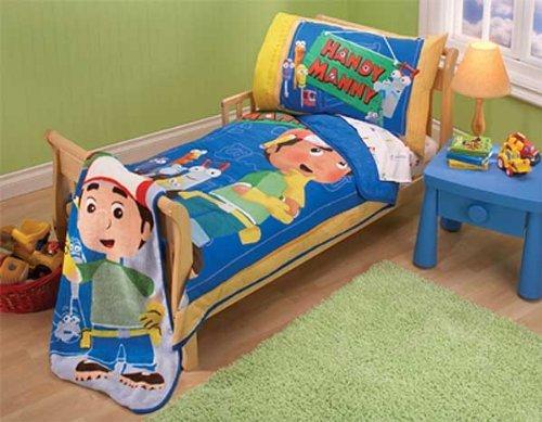 Disney Handy Manny Toddler Bedding Set - 4pc Fix It Comforter - Manny It Fix