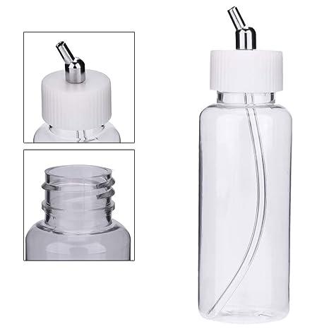 10PCS Airbrush Bottle Cap Jar Lid Paint Siphon Adapter for Single Dual Bottles