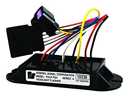 Federal Signal FHLP-TAH Headlight Flasher, Black, 12 VDC ... on