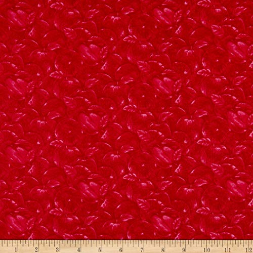Henry Glass & Co. Apple Festival Apples Outlined Red Fabric Fabric by the - Fabric With Apples