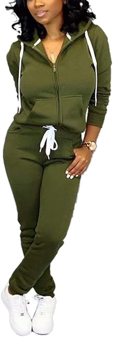 Nimsruc Womens 2 Piece Tracksuit Long Sleeve Casual Patchwork Pants Set at  Women's Clothing store