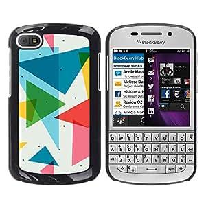 GIFT CHOICE / SmartPhone Carcasa Teléfono móvil Funda de protección Duro Caso Case para BlackBerry Q10 /POLYGON TRIANGLE PATTERN/