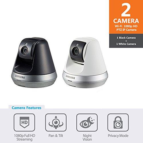 Samsung SNH-V6410PN SmartCam Pan/Tilt Full HD 1080p Wi-Fi IP Camera (Black & White) by Hanwha