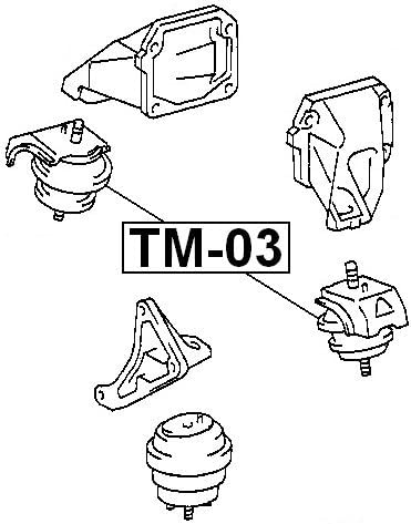 Front Engine Mount For Toyota 1236070030