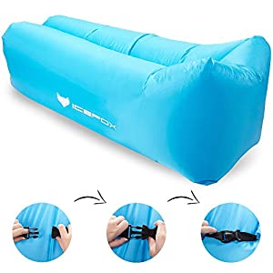 Icefox Waterproof Inflatable Sofa Portable Air Sofa With Carry Bag Outdoor Indoor Air Sleeping