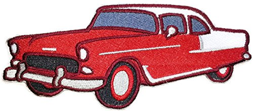 Classic Cars Collection [1955 Chevrolet] [American Automobile History in Embroidery] Embroidered Iron On/Sew patch [6.8