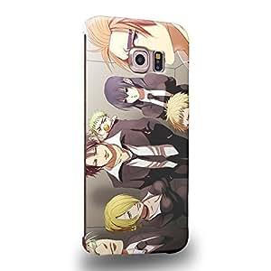Case88 Premium Designs Beelzebub Tatsumi Oga Kaiser de Emperana Beelzebub IV Hildegarde Takayuki Furuichi Aoi Kunieda 1696 Protective Snap-on Hard Back Case Cover for Samsung Galaxy S6 Edge (Not Normal S6 !)