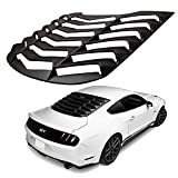 CUMART Rear Window Louvers Windshield Sun Shade Cover Lambo Style Matte Black For 2015 2016 2017 2018 Ford Mustang GT (Ford Mustang)