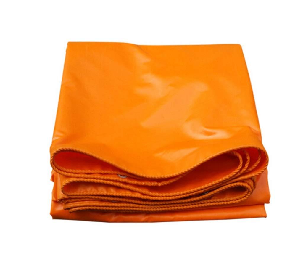 QQHWDT LYX® Regendichtes Tuch, Wasserdichter Sunscreen verdicken Orange Außenhimmel-Zelt-Zelt-Schatten-Leinwand-Plastik beschichtete Tuch-Plane-Plane 5x6m