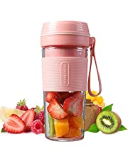 270ml Personal Size Blender OCTQUE Handheld Fruit Mixer USB Rechargeable Portable Mini Juicer for Smoothie, Fruit Juice, Milk Shakes (Pink)