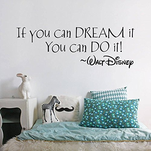 FairyTeller If You Can Dream It You Can Do It Inspiring Quotes Wall Stickers Home Art Decor Decal Mural Wall Stickers For Kids - Dog Dog Dirty Big