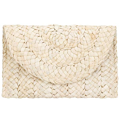 Straw Clutch Women Straw Purse Woven Envelope Summer Beach Bag Rattan Bag Straw Handbag Purse