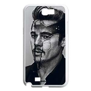 C-EUR Diy Phone Case Brad Pitt Pattern Hard Case For Samsung Galaxy Note 2 N7100 WANGJING JINDA