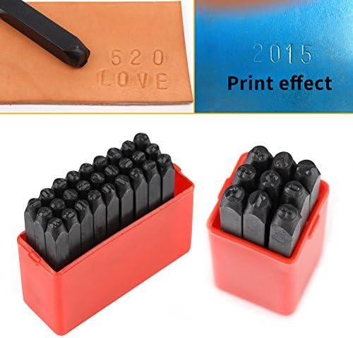 0-9 Poin/çon dAlphabet//Chiffres en Acier au Carbone de 3mm Kit dEstampillage en M/étal