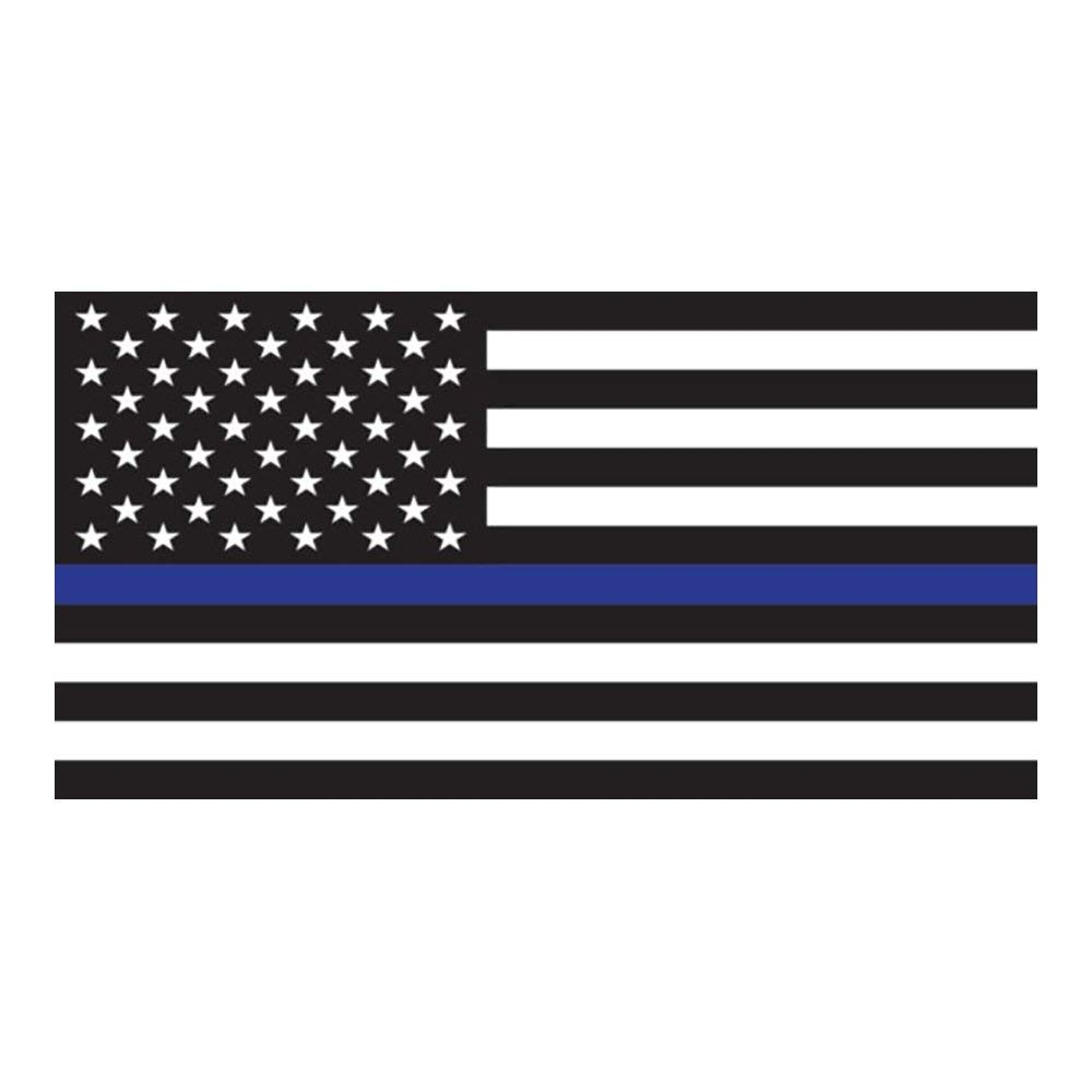 Butler Online Stores Retired Police License Plate Frame Bundle with Thin Blue Line Flag Decal