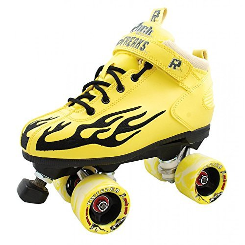 Sure-Grip Rock Flame Skate Yellow with Black Flame 07