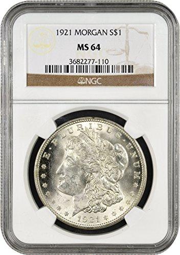 1921 Morgan Silver Dollar $1 MS-64 NGC