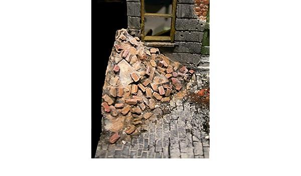 Brique gravats Piles 2/beaucoup dangle /échelle 1//16/ème